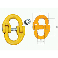 Hammer lock 13MM Chain Connecting link Winch for Cable Rope Hook 5.3T WLL