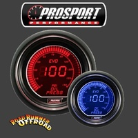 ProSport  EVO Digital  BLUE - RED Fuel Pressure Gauge PSI 52mm