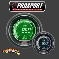 Prosport EVO Digital EGT Gauge White Green 52mm Exhaust Gas Temperature Pyrometer