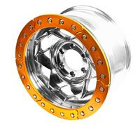 Trail Gear Creeper Lock Bead lock wheel rim 17 x 9 Nissan Patrol GQ/GU - Orange