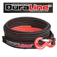 "303828 Trail Gear Duraline Exoshield 3/8"" x 150' 45mtr Winch rope inc Hook"