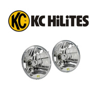 "42301- KC Highlights 7"" Polycarbonate Semi Sealed Beam Headlamps lights with globes"
