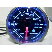 52BOWGSWLS-P(PSI) - GREEN - Boost Gauge 52mm PSI with audible Alarm