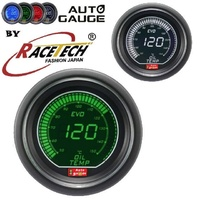AGEVOWGOT-Autogauge EVO Digital  GREEN- WHITE Oil Temperature Gauge Celius 52mm