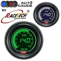 AGEVOWGVO Autogauge EVO Digital Green -  White Volt Gauge 52mm