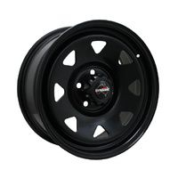 Dynamic 17x8 -13 6 5.5  Black Steel Rim