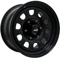 Dynamic 17x9 -30 6 5.5 Black Steel D Hole Rim fits Nissan fits Toyota