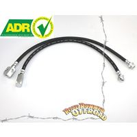 "Nissan GU Patrol ZD30 ONLY  2""3"" 4"" 5"" extended Brake line Kit Front and Rear ADR Approved Non ABS"