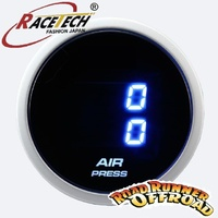 Racetech Dual Air Pressure Gauge Blue Psi Air Bag tank Onboard