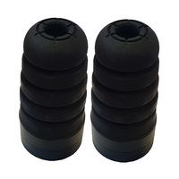 Bump stops extended Rubber 80 Series Landcruiser style suit Patrol GU GQ (PAIR) with 50mm acetal spacer kit