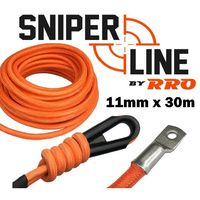 11mm x 35m Sniper Line Competition Winch rope Braided outer cover for low mount